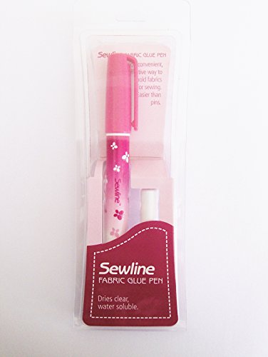 Sewline Stoffklebestift mit doppelter Nachfüllpackung, EPP, nadelloses Nähen und Papieranheften, trocknet klar