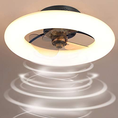 LANMOU Ventilador de Luz de Techo, Moderno Ventilador con Luces LED Regulable con Mando a Distancia Timing 6 Velocidades Ajustables Ventilador de Techo Silencioso Reversible para Salón Comedor,Negro