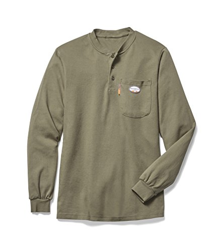 Rasco FR Mens Flame Resistant Henley Shirt