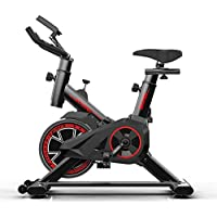 Nuokix Indoor Spinning Ejercicio ciclo de la bici bicicleta estacionaria Pantalla LCD de ritmo cardiaco ajustable Pie equipo de la aptitud Ciclismo bicicleta estacionaria cómodo cojín de asiento Cardi
