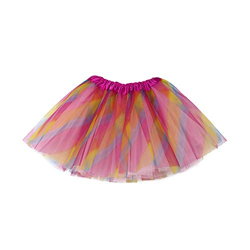 Xmiral Tutu Gonna Vestito Ragazze Bambine Ballerina Abiti Stelle Sottoveste Balletto Soffice Costume Danza Principessa Costume 3-10 Anni Multicolore