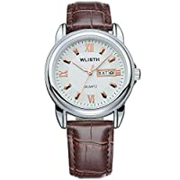 Fintier クラシック カジュアル腕時計 メンズ腕時計 ビジネス ウォッチ クロノグラフ ウォッチ 日付 夜光 防水 腕時計 アナログ クォーツウォッチ