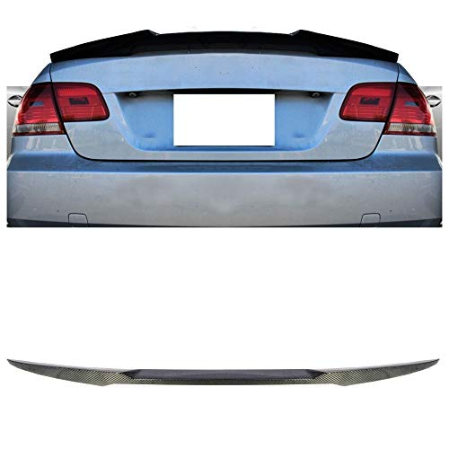 SUVNEER BMW M4 Style Real Carbon Fiber Trunk Spoiler for 2007-2013 BMW E92 Pre LCI & LCI 2D Coupe 328 335 M3
