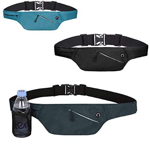 4Good Flache Bauchtasche mit RFID Schutz in 4 Farben als Running Belt Laufgürtel Hüfttasche Reisetasche Wandertasche für Damen und Herren