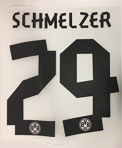Flock Original BVB Borussia Dortmund Trikot 25cm - SCHMELZER 29