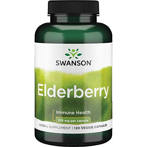 Swanson Elderberry 575 Milligrams 120 Veg Capsules