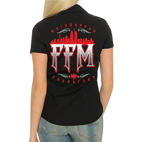 Spaß kostet Frauen und Damen Hemd Frankfurt FFM Mainhattan (mit Rückenduck) Größe S - 4XL
