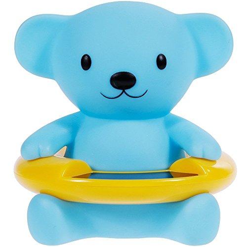 OFKPO Galleggiante Giocattolo e Tester di Temperatura dell\'acqua per Bambino - Blu Orso