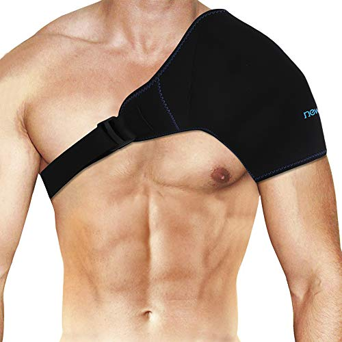 """NEWGO®Shoulder Ice Pack Rotator Cuff Cold Therapy, Reusable Ice Pack Wrap Shoulder Cold Pack with Extender Strap for Injuries, Pain after Surgery, Inflammation - 19.7"""" X 9.3"""""""