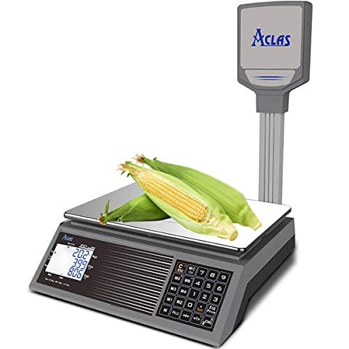 Báscula digital de cálculo de precios ACLAS con poste 30 k