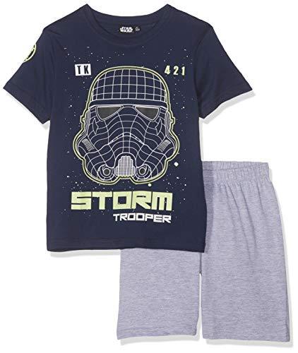 Star Wars Jungen 5777 Zweiteiliger Schlafanzug, Marine blau, 116
