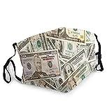 KEROTA Mascarillas faciales de dinero para adultos, reutilizables,...
