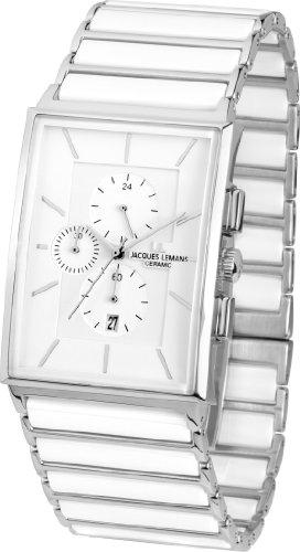 Jacques Lemans Herren Chronograph Quarz Smart Watch Armbanduhr mit Keramik Armband 1-1817B