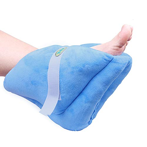 BIHIKI Foot Pillows for Pressure Sores,Heel Protection for Soreness and Healing,Heel Cushions Blue,One Size (1)