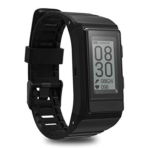 YGQNH Reloj Inteligente, GPS Sport Smart Band Monitor Cardiaco Activity Tracker Altitud Frecuencia Cardíaca Pulsera De Fitness Hombres IP68 Impermeable, Fácil De Usar(Color:Negro)