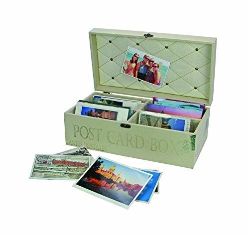 Safe-ID – verzamelaarsartikel – houten box voor ansichtkaarten 164