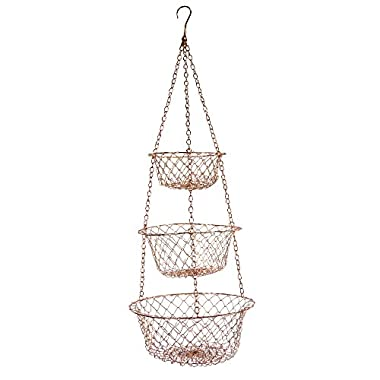 Fox Run 5211 Hanging Wire Baskets, Copper