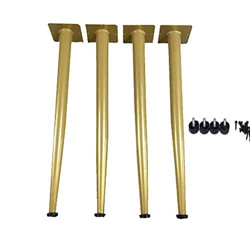 Patas De Mesa De Tamaño Opcional (Dorado) Y; Juego De 4 Patas De Mesa De Metal Resistente para Escritorio, Soporte, Banco,Mesas, SillasDe Bricolaje(Tamaño: 72 Cm) Regalo