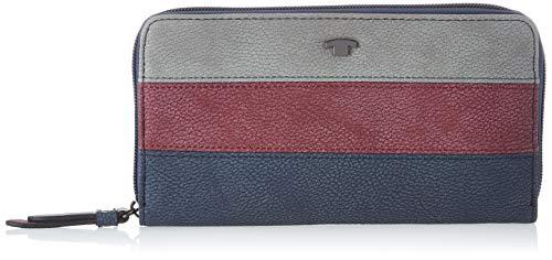 TOM TAILOR Portemonnaie Damen Miri Stripes,(Blau), 20x10.5x2.5 cm, Tom Tailor Geldbörsen Damen, Geldbeutel