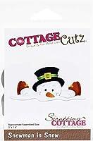 """CottageCutz Dies-Snowman In Snow 3""""X1.4"""""""