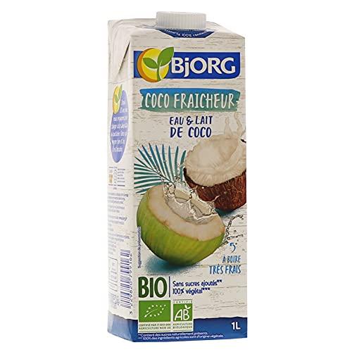Bjorg Boisson Coco Fraîcheur - Boisson végétale Bio - Sans sucres ajoutés - 1 L
