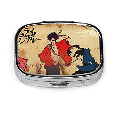 Migen S-amurai C-hamploo - Pastillero cuadrado personalizado para tableta de viaje, pastilla, vitamina, caja decorativa