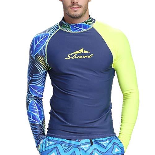 Fusanadarn badpak, lange mouwen, met zonnebescherming, voor mannen, badpak, surfen, kostuum, duiken met snorkel, kleding kwallen