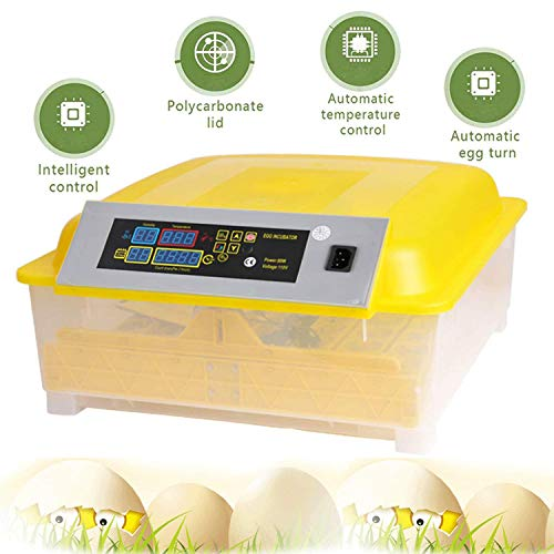 OppsDecor Egg Incubator, 48 Eggs Digital Incubator with Fully Automatic Egg Turning and Humidity...