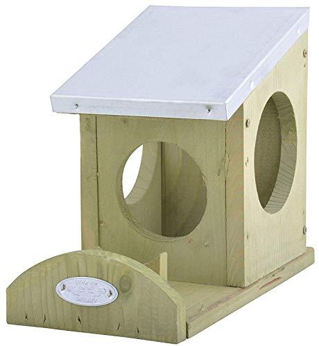 SIDCO - Futterstationen für Eichhörnchen in Grün, Größe 12 x 24,5 x 18,5 cm