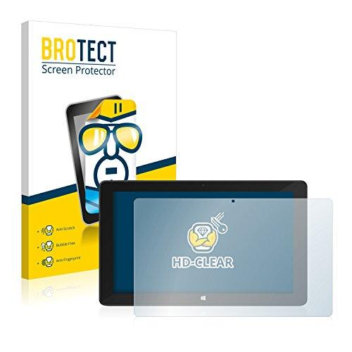 BROTECT Schutzfolie kompatibel mit TrekStor SurfTab Twin 11.6 (Volks-Tablet 2016) klare Bildschirmschutz-Folie