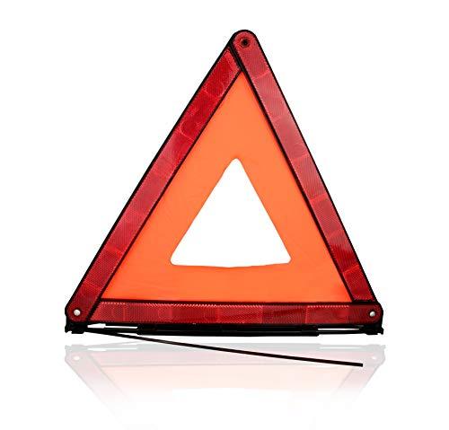 ASARAH Warndreieck KFZ unkompliziert einsetzbar für Unfälle und Pannen für Schutz und Sicherheit 1 Stück