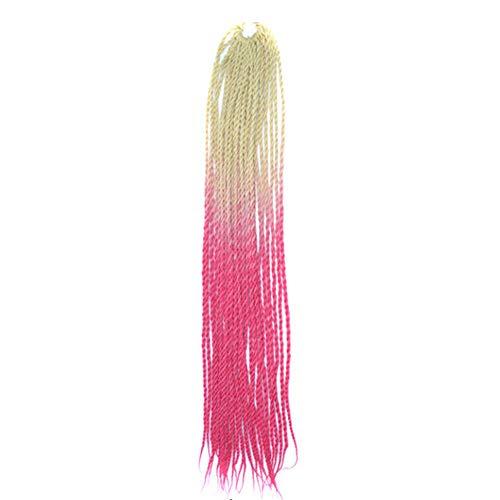 Tonsee Mode Charme Femmes Gradient Couleur Twist Crochet Tresses Perruques Extensions Cheveux Synthétiques Naturels
