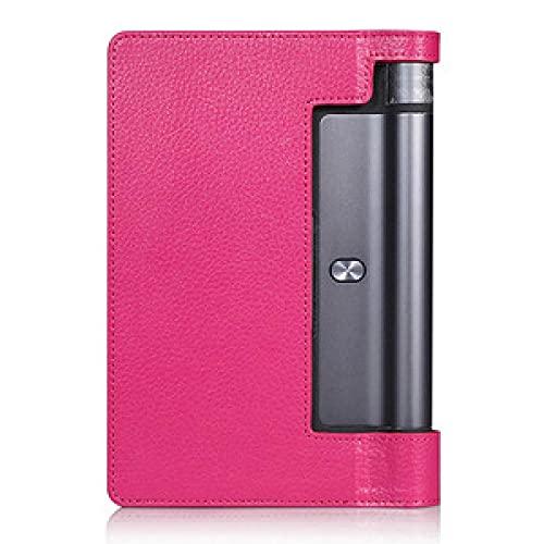 Funda de Cuero magnética PU para la pestaña Lenovo 3 8.0 850F 850M 850L TAB3-850 Funda Protectora Ultra Delgada para la pestaña de Yoga 3 yt3-850f-Rosa roja