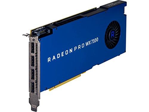 HP - Tarjeta gráfica (Radeon Pro WX 7100, 8 GB, GDDR5, 256 bit, 5120 x 2880 Pixeles, 1 Ventilador(es))