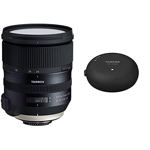Tamron Obiettivo Per Nikon, 24-70Mm F/2,8 Di Vc Usd G2, Nero & Tap-01 Dock Usb Per Nikon