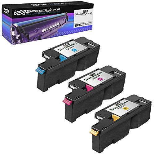 SpeedyInks Compatible Toner Cartridge Replacement for Dell 1250 (1 Cyan, 1 Magenta, 1 Yellow, 3-Pack)