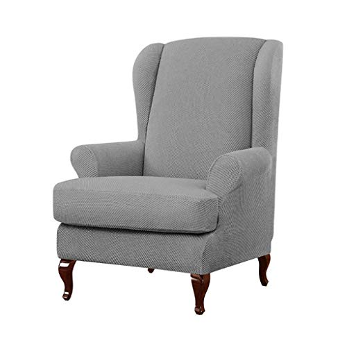 LYY 2-teiliger Schonbezug aus elastischem Stuhl, Möbelbezüge für Stühle Stretch Armchair Chair Spandex Furniture Protector Stuhlbezüge
