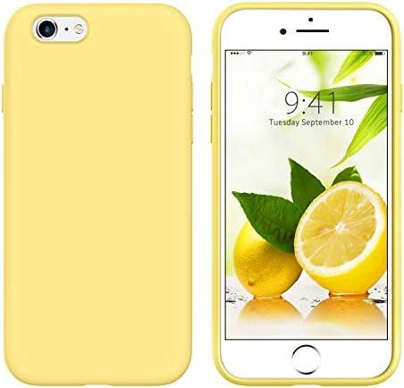 GUAGUA iPhone 6s Case iPhone 6 Case Liquid Silicone Soft Gel Rubber Slim Lightweight Microfiber product image