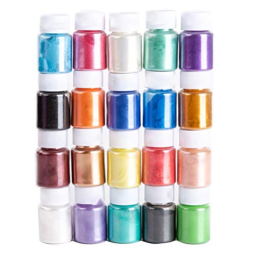 Glimmer-Puder, Seifenmacher-Pigmentpulver, Seifenfarbe, Epoxidharz-Pigment, Seifenfarbe, 20 Farben...
