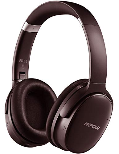 41BOzwlk0mL. SL500  - Mpow [Update] Active Noise Cancelling Headphones, 50 Hours Playtime with Hi-Fi Deep Bass, ANC Over Ear Bluetooth Headphones with Mic, Foldable Wireless Headset for Travel Work TV Cell Phone/PC