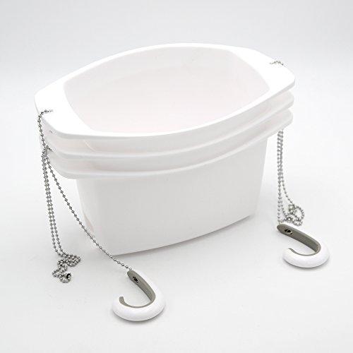 Umbra Oasis - Estantería de ducha sin agujeros con gancho y ventosa, 3 niveles, color blanco