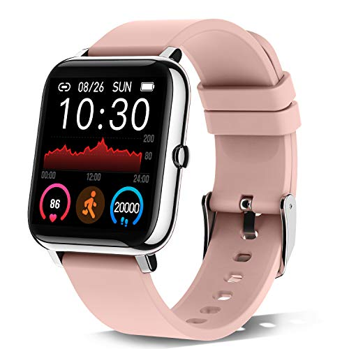 Smartwatch, 1.4 Zoll Touch-Farbdisplay Smart Watch mit Pulsmesser Schlafmonitor, Fitness Tracker mit Schrittzähler für Damen, Smart Watch IP67 Wasserdicht Sportuhr fitnessuhr mit Stoppuhr