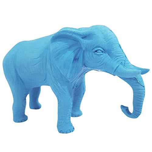 ArtCreativity Giant 3D Elephant Eraser for Kids - Jumbo Pencil Rubber - Huge Eraser - Unique Stationery Supplies - Birthday Party Favors for Boys and Girls, Teacher Rewards, Classroom Prizes - Blue