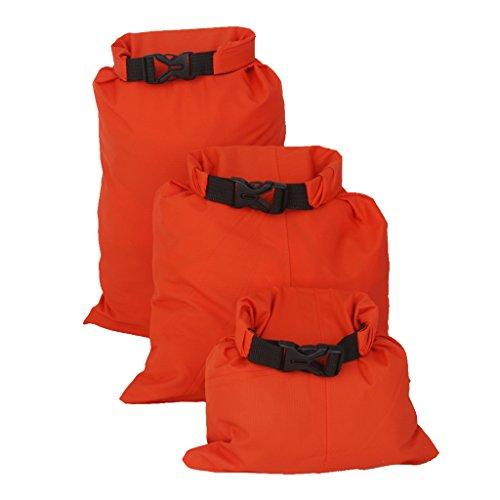 F Fityle Juego de 3 Bolsas de Saco Seco Impermeable para Kayak, Canotaje, Canoa Flotante