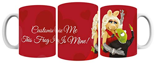 Tasse, Motiv: The Muppets Kermit and Miss Piggy This Frog is Mine, personalisierbar