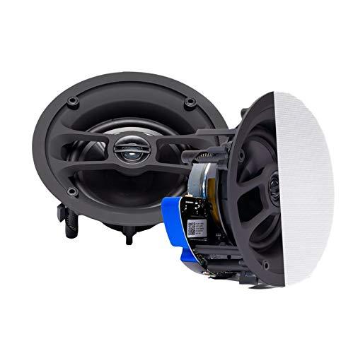 MARD Audio DAN-VAST-200 Bluetooth Deckenlautsprecher Set, 1 Paar 2-Wege Einbauboxen (2 Speaker), Farbe weiß, Einbaulautsprecher mit Bluetooth für Decke Wand Küche Home oder Badezimmer