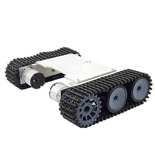 FLAMEER Legierung Starke Motor Roboter Car Tank Chassis Metall Plattform Kit mit Track Crawler, Quick Assembly für Arduino
