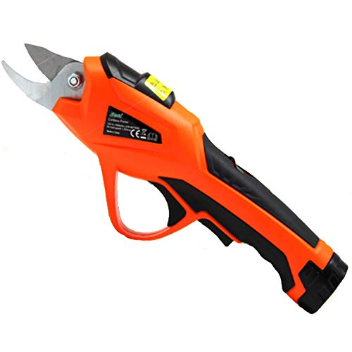 Check Out This CKAN Electric Secateurs, Electric Pruning Shears, Bypass Secateurs, Garden Shears Electric Scissors, Rechargeable Garden Cutting Shears, Lithium Battery 36V Pruning Shear Tools