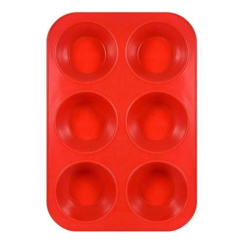 Ecoki Muffinblech aus Silikon für 6 Muffins - LFGB Zertifiziert BPA-frei Silikon Muffinform für Cupcakes, Brownies, Kuchen, Pudding - Antihaft & Leicht zu Reinigen 丨2 Jahren GARANTIE