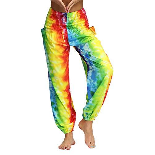 Lazzboy Damen yoga baggy hippie hosen, harem aladin pumpe, hosen mittel gelb